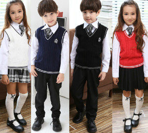 kids with uniform