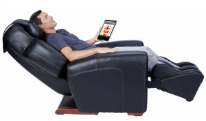 Man sleeping on Massage Chair