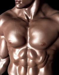 man body with oil