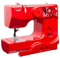 red portable sewing machine